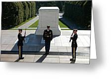 Changing Of Guard At Arlington National Greeting Card
