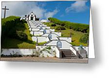 Chapel In Azores Islands Greeting Card