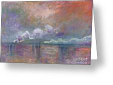 Charing Cross Bridge Greeting Card by Claude Monet