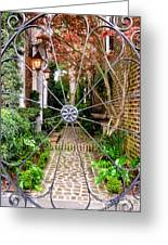 Charleston Gated Garden Greeting Card