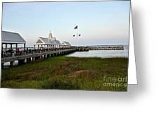 Charleston Waterfront Park During Sunset Greeting Card