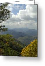 Cherohala Skyway In Autumn Color Greeting Card