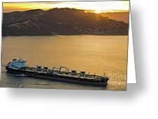 Chevron Pegasus Voyager Oil Tanker Greeting Card
