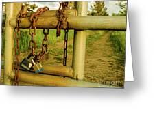 Padlocks And Chains Greeting Card