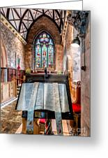 Church Interior Greeting Card