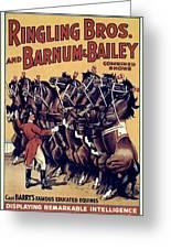 Circus Poster, 1920s Greeting Card