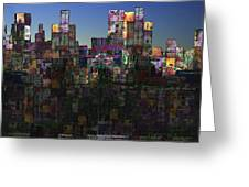 City Sunrise  Greeting Card