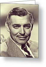 Clark Gable, Vintage Actor Greeting Card