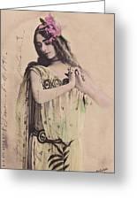 Cleo De Merode Greeting Card