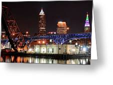 Cleveland Panorama Greeting Card