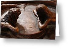 2 Close Friends In Bronze Greeting Card