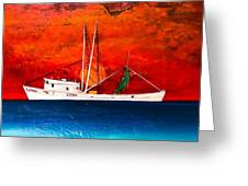 Clyde Phillips At Sea  Greeting Card