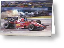 Cma 081 1983 San Marino Gp Imola Patrick Tambay In Ferrari Roy Rob Greeting Card