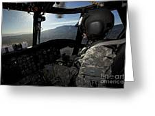 Co-pilot Flying A Ch-47 Chinook Greeting Card