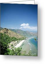 Coast And Beach View Near Dili In East Timor Leste Greeting Card