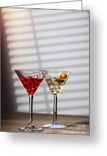 Cocktails At The Bar Greeting Card