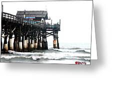 Cocoa Beach Pier Greeting Card