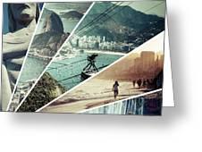 Collage Of Rio De Janeiro  Greeting Card