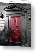 Colonial Red Door Newport Rhode Island Greeting Card