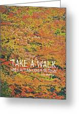 Colors Of Fall Quote Greeting Card