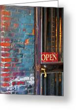 Come On In, We're Open Greeting Card