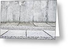 Concrete Background Greeting Card