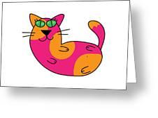Cool Cat Greeting Card