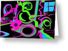 Cosmic Dj Greeting Card by Cristophers Dream Artistry