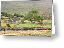 Cottage At The Foothill Of The Colorful Connemara Mountains Ireland  Greeting Card