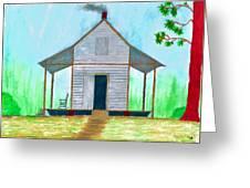 Cracker Cabin Drawing Greeting Card