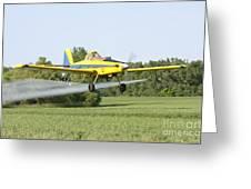 Crop Dusting Plane Greeting Card