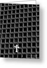 Cross And Building Greeting Card