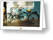2 Cuban Bicycles Greeting Card