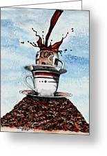2 Cups Coffee Greeting Card