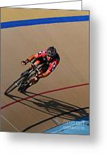 Cycle Racing On The Curve Greeting Card