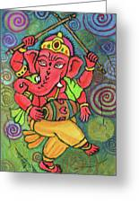 Dancing Ganesha Greeting Card