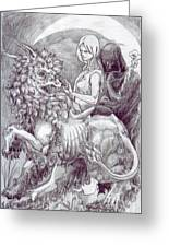 Death Devil And Maiden Greeting Card