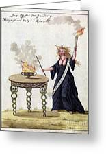 Demonology, 18th Century Greeting Card