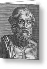 Demosthenes, Ancient Greek Orator Greeting Card