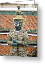 Detail From A Buddhist Temple In Bangkok Thailand Greeting Card