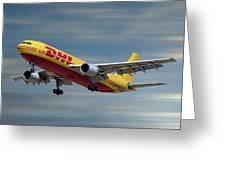 Dhl Airbus A300-f4 Greeting Card