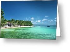 Diniwid Beach In Tropical Paradise Boracay Philippines Greeting Card