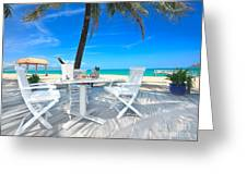 Dinner On The Beach Greeting Card by MotHaiBaPhoto Prints