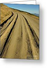 Dirt Road Winding Greeting Card
