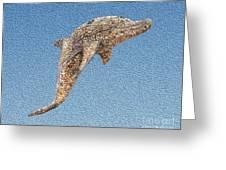 Dolphin Shell Art Sculpture Greeting Card