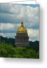 Dome Of Gold Greeting Card