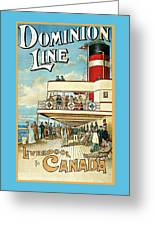 Dominion Line Greeting Card