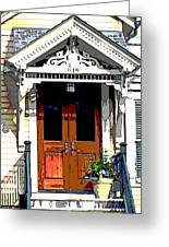 Door Series Greeting Card by Ginger Geftakys