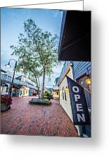 Downtown Of Newport Rhode Island At Dusk Hours Greeting Card