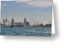 Dubai Creek And Abra Boats Greeting Card